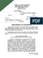 Demurrer to Evidence - Jimmy Nebrida