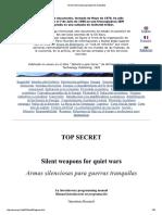 Armas Silensiosas Para Guerras Tranquilas - Bill Cooper Manual Top Secret