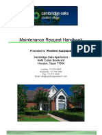 maintenance request handbook