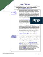 Lope Columna Comprehensive Resume