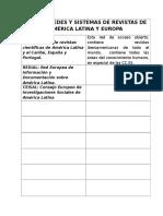 Listado Redes y Sistemas de Revistas de América Latina y Europa