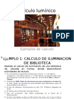Trabajo Iluminacion Biblioteca