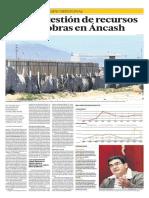 La mala gestión de recursos paraliza  obras en Áncash