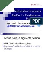 Matemática Financiera Sesión 1