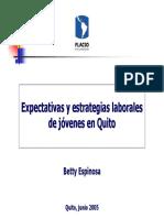 Estrategias de Insercion Laboral de Los Jovenes en Quito