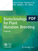 Biotechnologies for Plant Mutation Breeding