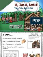 Fairytale Syllables 3 Pigs and Goldilocks