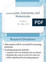 synonyms antonyms and homonyms review