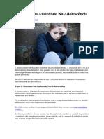 Sintomas Da Ansiedade Na Adolescência_pesquisa