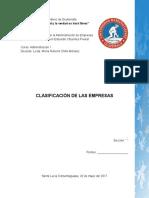 Clasificación de Las Empresas en Guatemala