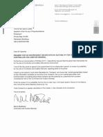 Martin Matthews Letter