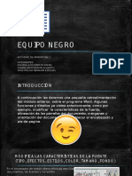 Equipo Negro Exposicion