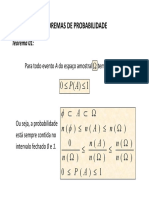 Teoremas de Probabilidade