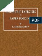 Geometric Exercises in Paper Folding
