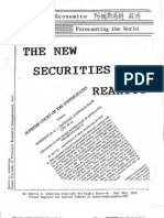 The New Securities Reality 7202010
