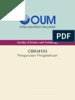 CBKI4103 Pengurusan Pengetahuan CAug14