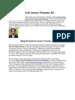 Biografi Khoirul Anwar Penemu 4G Adit