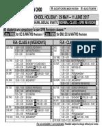 f5a Timetable - 150 Sets - Blue