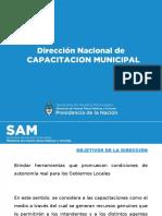 Lineamientos Dirección Nacional Capacitación