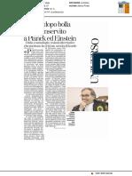 Bolla dopo bolla il benservito a Planck ed Einstein -La Stampa del 24 maggio 2017