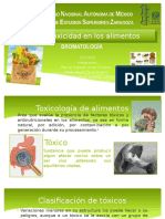 Fuentes de Toxicidad en los alimentos!