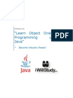 Learn How Object Oriented Programming & Java is explored in Industry