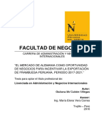 Tesis de exportación de la  frambuesa peruana a Alemania