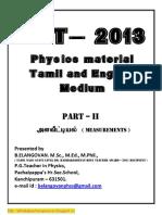 71 Tet Physics Material Part II Units and Measurements Tm