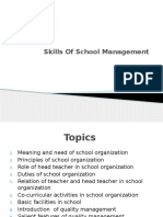 Skills of School Management
