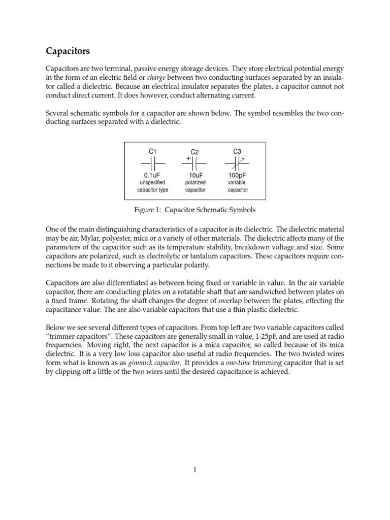 Understanding Capacitors Capacitor Rectifier Tantalum Multiple Anode