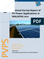 National Survey Report of PV Power Applications in Malaysia 2014