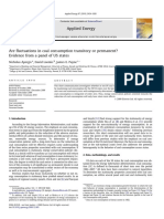 Are Fluctuations in Coal Consumption Transitory or Permanent Evidence From a Panel of US States 2010 Applied Energy
