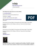 Nueva Revista - Peter Biskind Ed. Mis Almuerzos Con Orson Welles