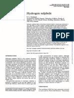 H2S Hydrogen Sulfide Poisoning Managemnt .