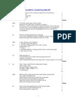 Mark Scheme Paper 3 June 99