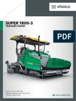 Paver SUPER 1800-3 Brochure