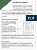 Interaction Process Analysis