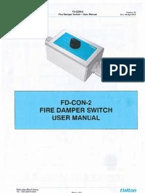 Controle Dos Dampers - Halton - FD-CON-2 on