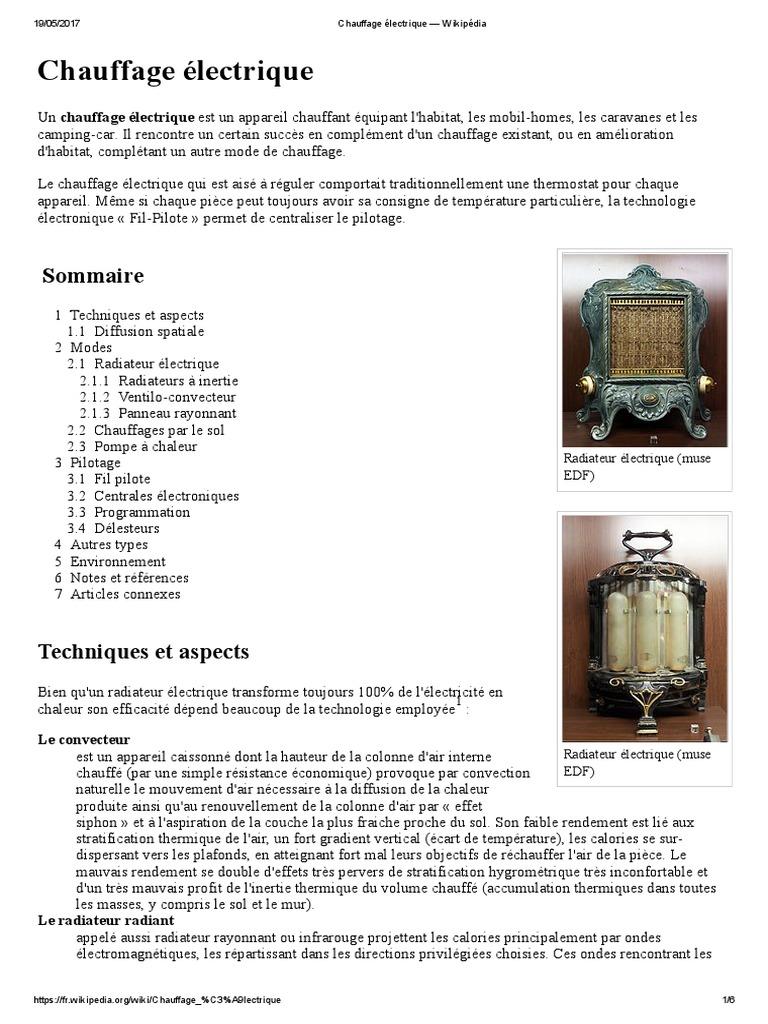 Radiateur Electrique Wikipedia dedans type de chauffage electrique. best type de chauffage electrique with