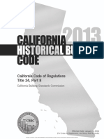 2013 California Historical Building Code Cover