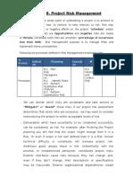 8. Project Risk Management