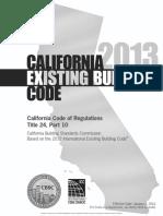 2013 California Existing Building Code Cover