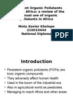 Persistent Organic Pollutants (POPs) in Africa