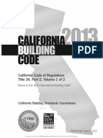 2013 California Building Code Volume 1 Title Page
