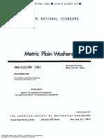 ASME B18 22 Metric Washers