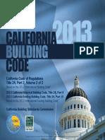 2013 California Building Code Volume 2 Cover