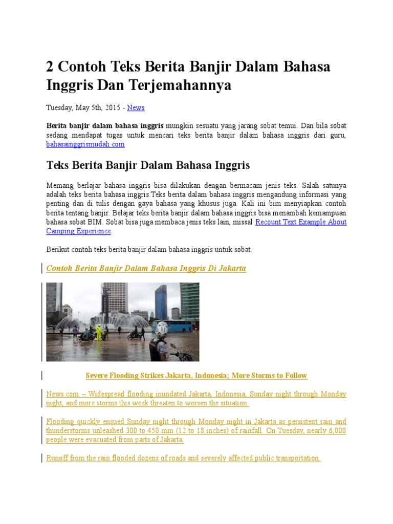 Contoh Naskah Reporter Berita Dalam Bahasa Inggris Brad Erva Doce Info