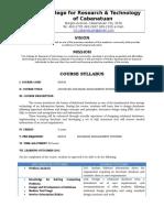 OBE Sample syllabus