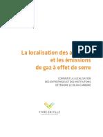 La localisation des activités et les émissions de gaz à effet de serre