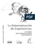 La sistematizacion de experiencias un metodo para impulsar procesos emancipadores.pdf